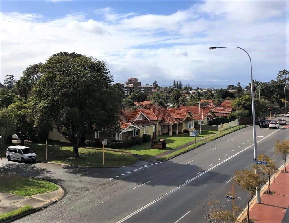 Street aerial view.